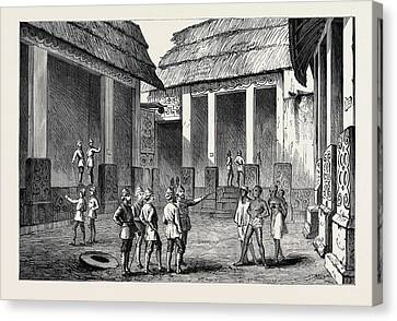 The Ashantee War Interior Of The Adansi Chiefs Palace Canvas Print by English School