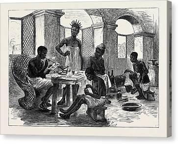 The Ashantee War Jewellers Shop Cape Coast Castle 1874 Canvas Print