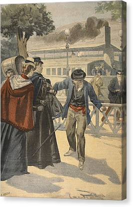 The Assassination Of The Empress Canvas Print by French School