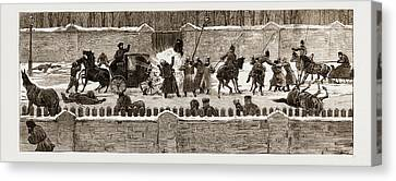 The Assassination Of The Late Czar Alexander II Canvas Print