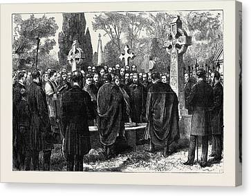 The Assassinations In Dublin Funeral Of Mr Canvas Print