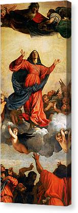 The Assumption Of The Virgin Canvas Print by Titian