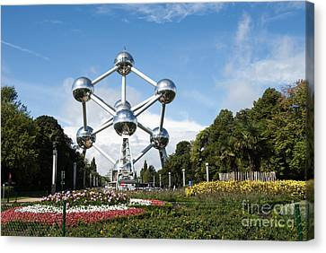 The Atomium Canvas Print by Juli Scalzi