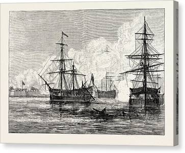 Sullivan Canvas Print - The Attack On Sullivans Island, United States Of America by American School