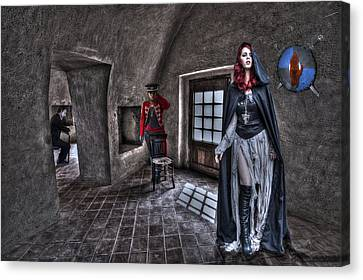 The Audition. Canvas Print by Roy Burns