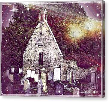 The Auld Kirk Alloway Scotland Canvas Print by Janet Fraser Mckinlay