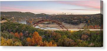 The Austin Skyline And 360 Bridge Pano Image Canvas Print by Rob Greebon