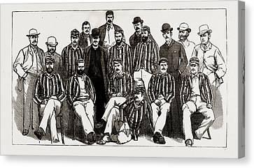 The Australian Cricket Team Now Visiting England H.j.h Canvas Print