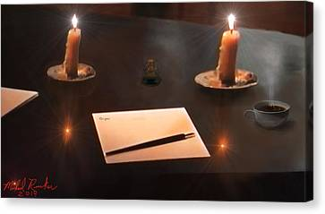 The Author Canvas Print by Michael Rucker