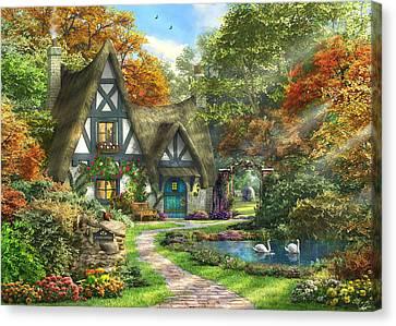 The Autumn Cottage Canvas Print