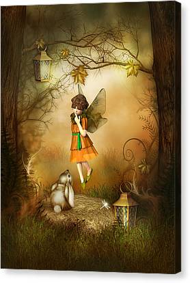 The Autumn Fairy Canvas Print