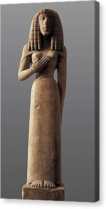 The Auxerre Godess. 640 -630 Bc Canvas Print by Everett
