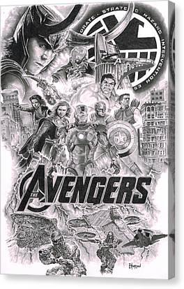 The Avengers Canvas Print by David Horton