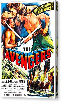 The Avengers, Us Poster, Kissing Canvas Print by Everett
