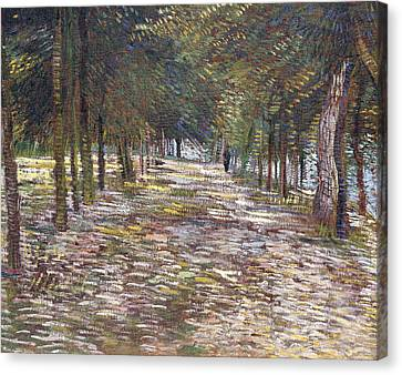 Dappled Light Canvas Print - The Avenue At The Park by Vincent Van Gogh