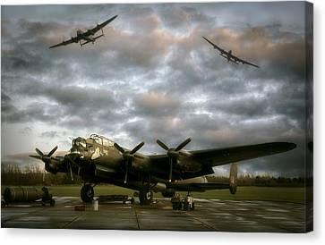 The Avro Lancaster Trio Canvas Print