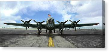 The B17 Flying Fortress Canvas Print by Rod Seel