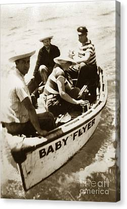 The Baby Flyer With Ed Ricketts And John Steinbeck  In Sea Of Cortez  1940 Canvas Print