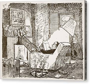 Untidy Canvas Print - The Bachelor, Illustration From Pont An by Pont