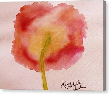 The Back Side Of A Poppy Canvas Print
