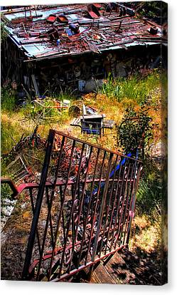 The Back Stairway Canvas Print by David Patterson