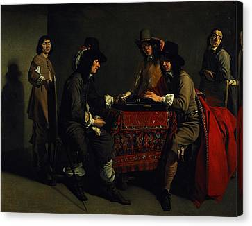 The Backgammon Players Oil On Canvas Canvas Print