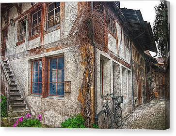 The Backyard Alley Canvas Print by Hanny Heim
