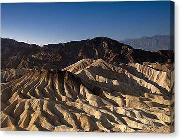 The Badlands Of Death Valley Canvas Print by Andrew Soundarajan