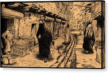 The Baghdad Street Canvas Print by Charbak Dipta