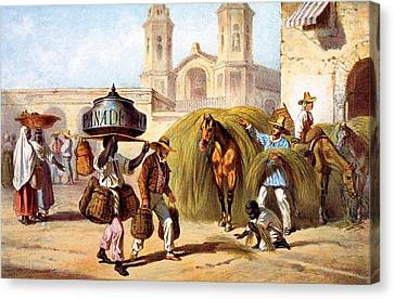 The Baker And The Straw Seller, 1840 Canvas Print by Federico Mialhe