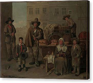 The Bakers Cart Canvas Print by Jean Michelin