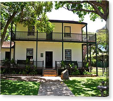 The Baldwin House In Lahaina I Canvas Print by Kirsten Giving