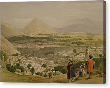 The Balla Hissar And City Of Caubul Canvas Print by James Atkinson
