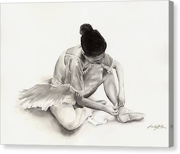 The Ballet Dancer Canvas Print by Hailey E Herrera