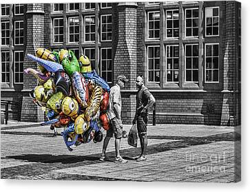 The Balloon Seller Popped Canvas Print