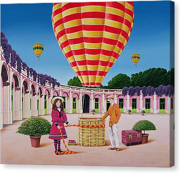 The Balloonist Canvas Print by Anthony Southcombe