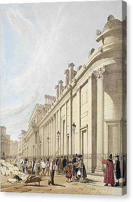 The Bank Of England Looking Towards Canvas Print by Thomas Shotter Boys