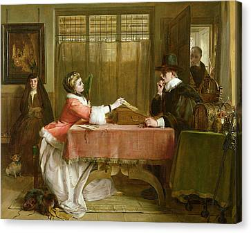 The Bankers Private Room, Negotiating Canvas Print by John Callcott Horsley