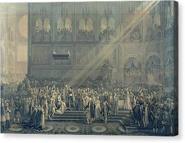 Marie-louise Canvas Print - The Baptism Of The King Of Rome 1811-32 At Notre-dame, 10th June 1811, After 1811 Engraving by French School