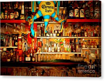 The Bar 7d14187brun Canvas Print