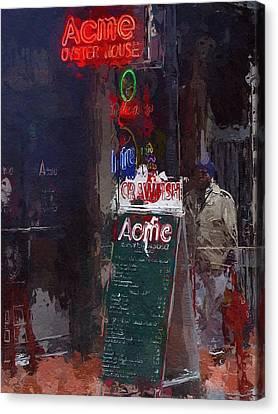 The Bar Canvas Print by Steve K