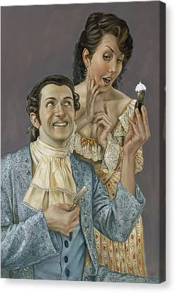 The Barber Of Seville Canvas Print by Matt Hughes