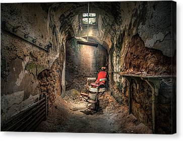 Chair Canvas Print - The Barber's Chair -the Demon Barber by Gary Heller