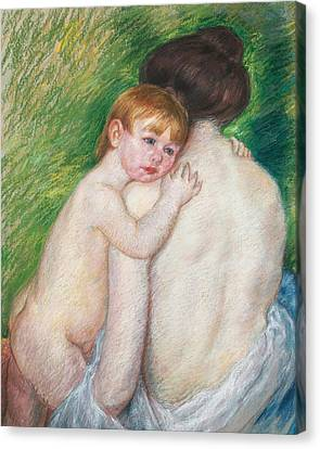The Bare Back Canvas Print by Mary Cassatt Stevenson