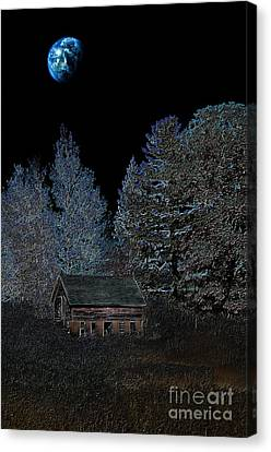 The Barn At Haumerklien  Canvas Print by The Stone Age