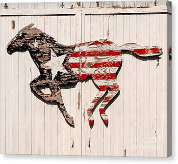 Fourth Of July Canvas Print - The Barn Horse by Jillian Audrey Photography