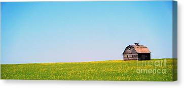 Canvas Print featuring the photograph the Barn by Marianne NANA Betts