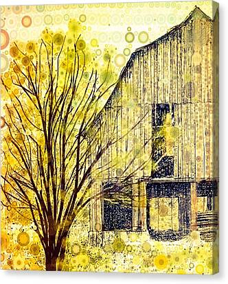 Old Barns Canvas Print - The Barn Where... by Steven Boland