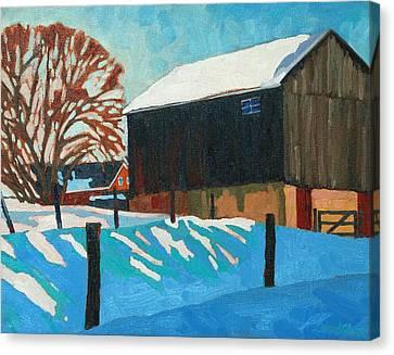 The Barnyard Canvas Print by Phil Chadwick