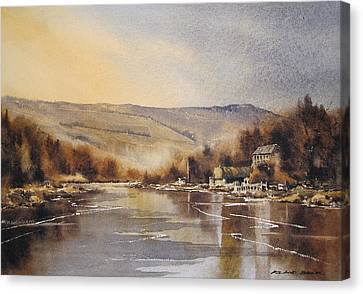 Canvas Print - The Barrow At Saint Mullins by Roland Byrne